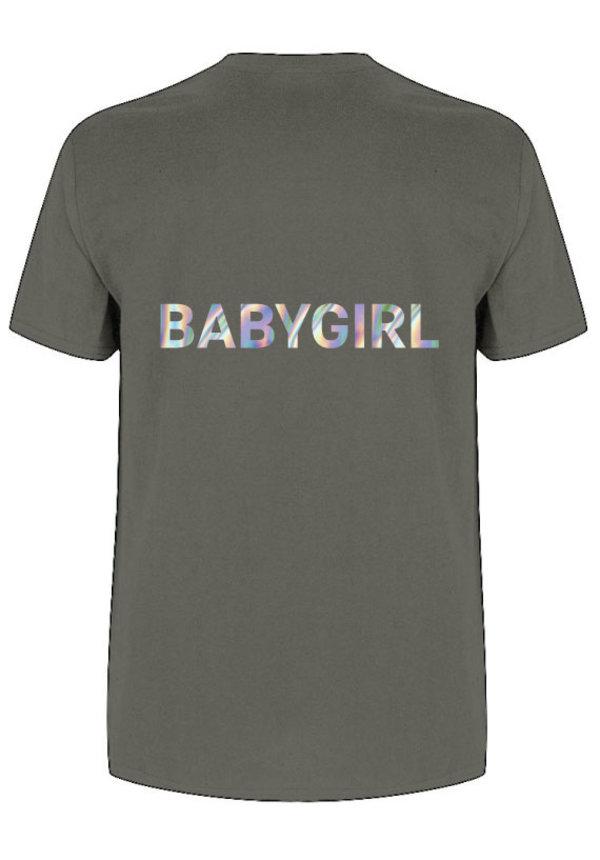BABYGIRL TEE HOLOGRAPHIC
