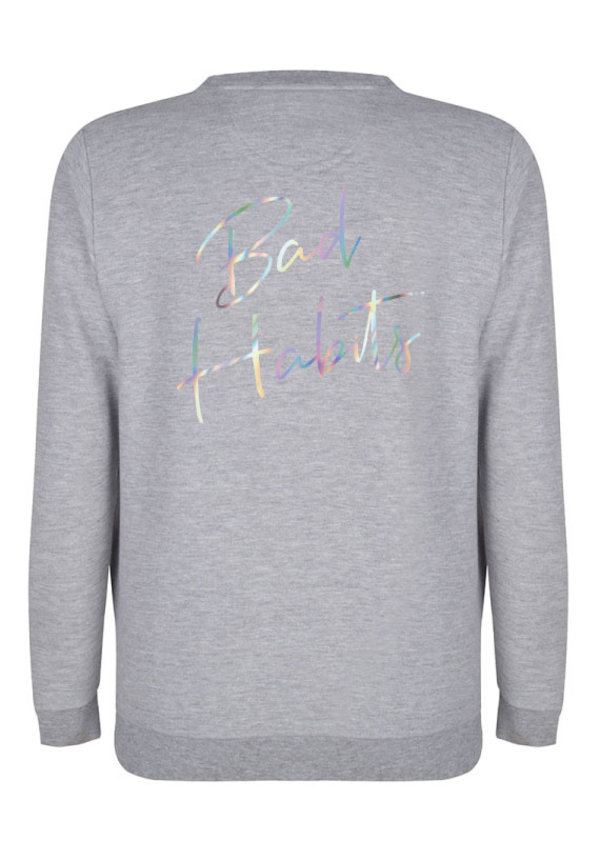BAD HABITS SWEATER HOLOGRAPHIC