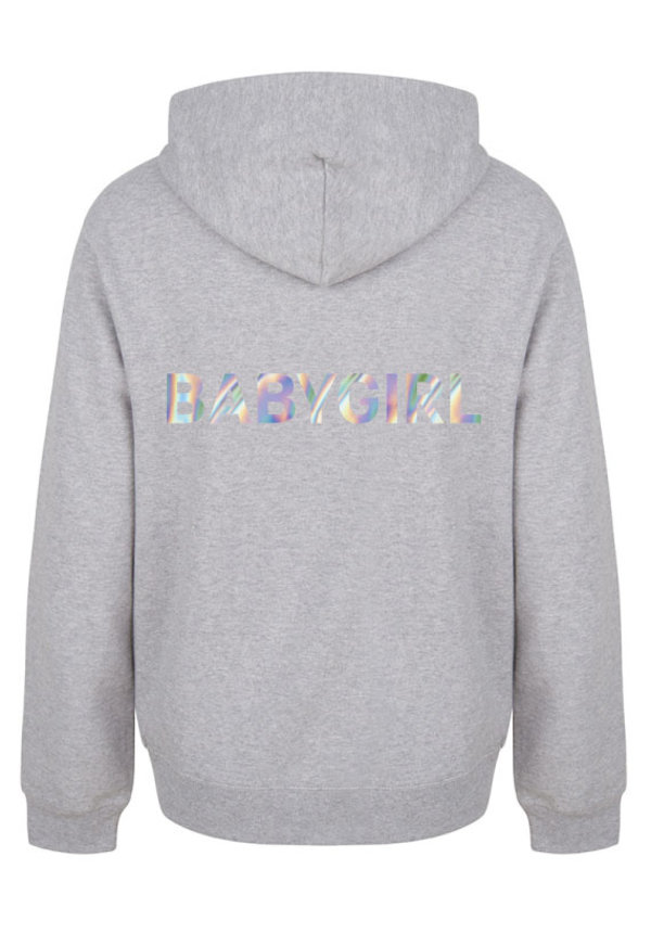 BABYGIRL HOODIE HOLOGRAPHIC