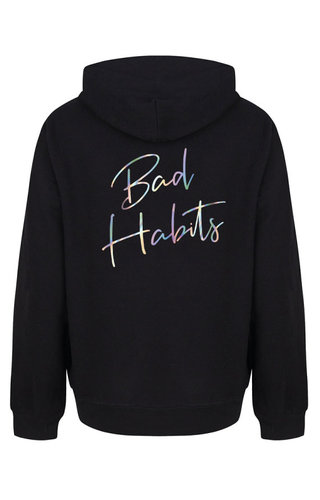 BAD HABITS HOODIE HOLOGRAPHIC