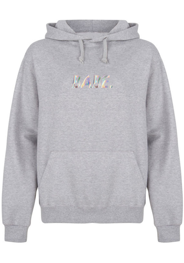 BABE HOODIE HOLOGRAPHIC