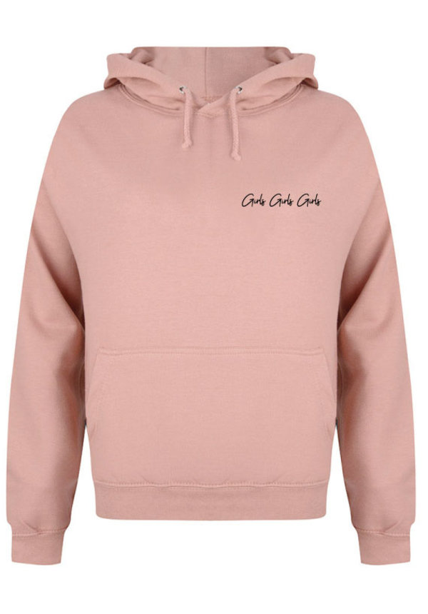 GIRLS GIRLS GIRLS HOODIE DUSTY ROSE