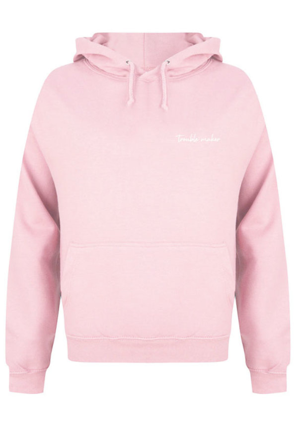TROUBLE MAKER HOODIE SOFT PINK