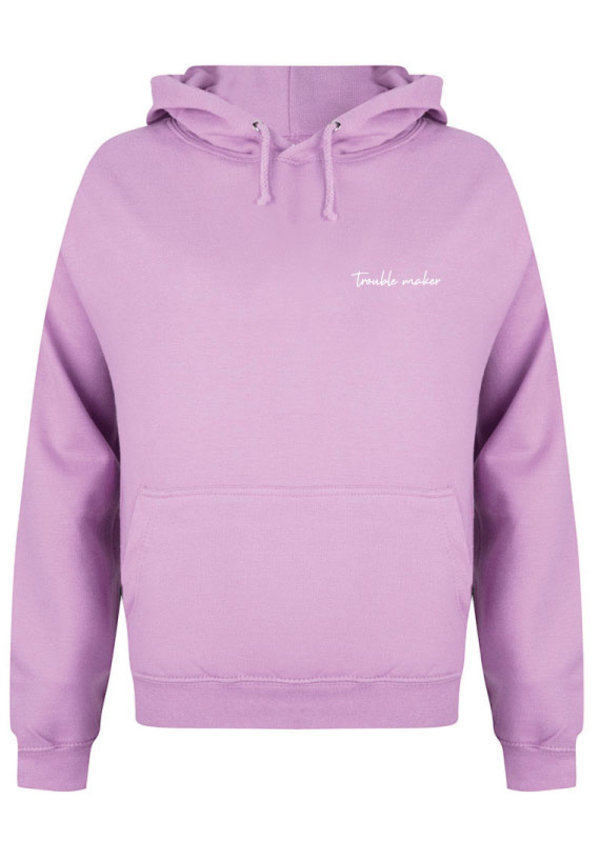 TROUBLE MAKER HOODIE LILAC