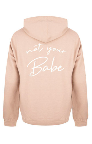 NOT YOUR BABE HOODIE SOFT PEACH