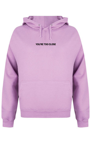 TOO CLOSE HOODIE LILAC