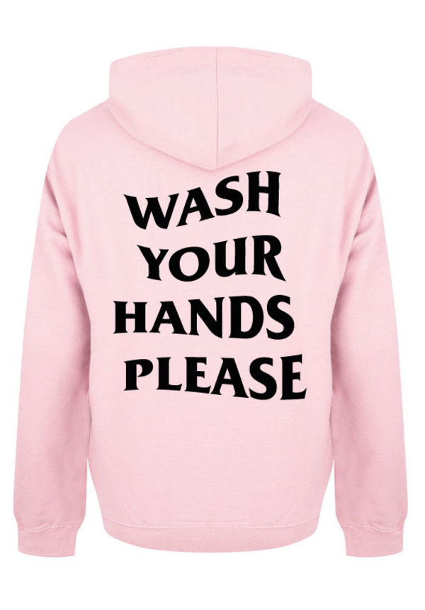 WASH YOUR HANDS HOODIE SOFT PINK