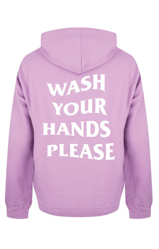 WASH YOUR HANDS HOODIE LILAC