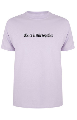 WE'RE IN THIS TOGETHER TEE SOFT LILAC