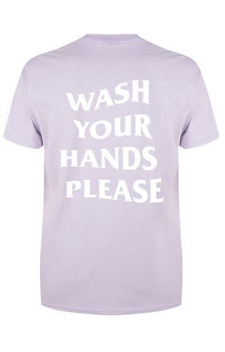 WASH YOUR HANDS TEE SOFT LILAC