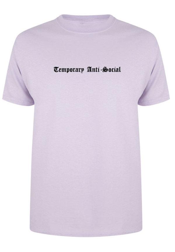 TEMPORARY ANTI-SOCIAL TEE SOFT LILAC