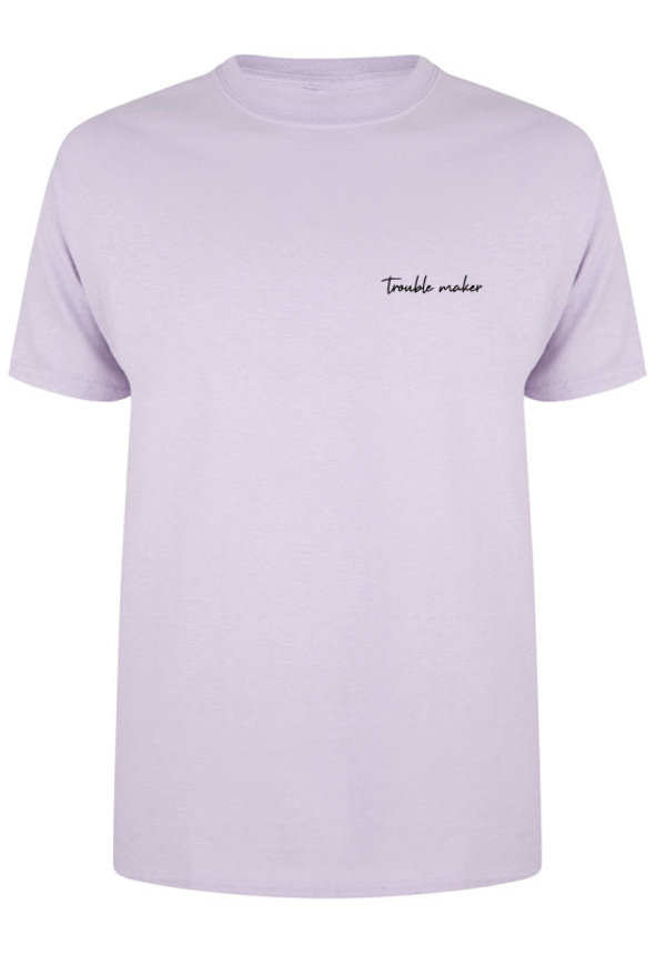 TROUBLE MAKER TEE SOFT LILAC