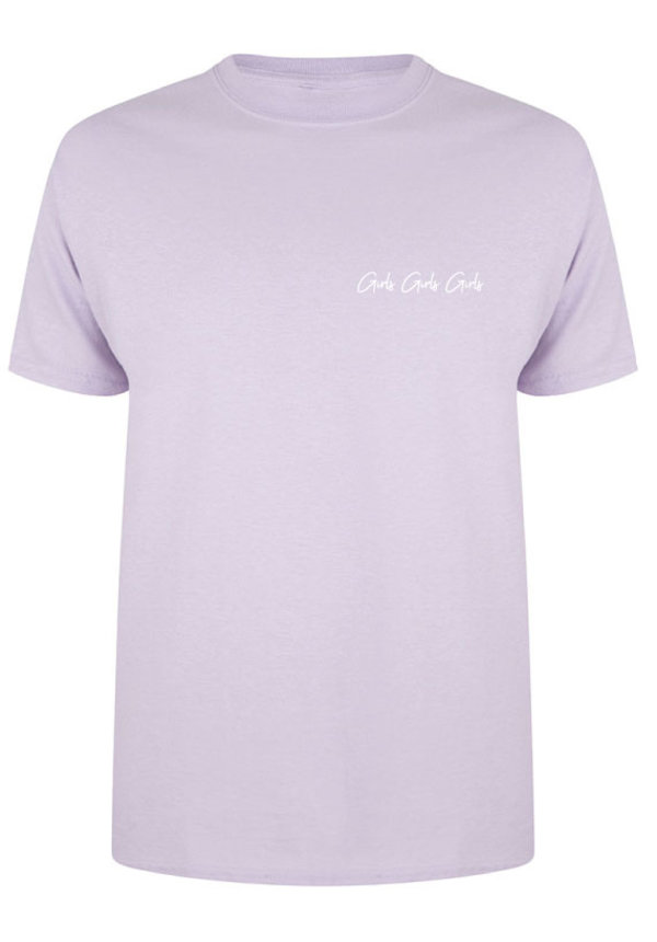 GIRLS GIRLS GIRLS TEE SOFT LILAC