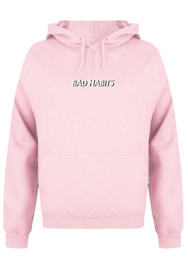 BAD HABITS SMALL HOODIE SOFT PINK