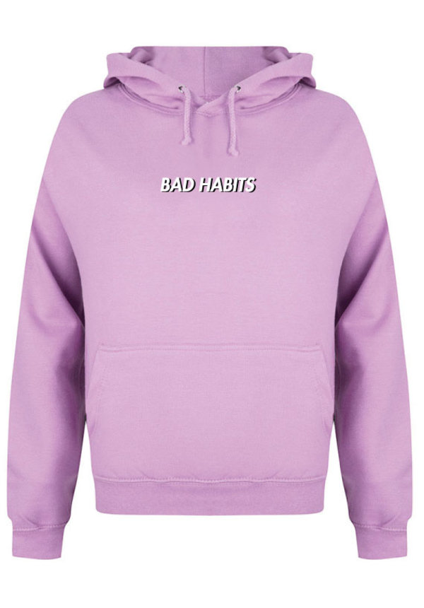 BAD HABITS SMALL HOODIE LILAC