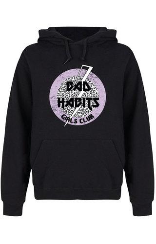 BAD HABITS GIRLS CLUB CIRCLE HOODIE BLACK