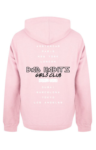 BAD HABITS GIRLS CLUB WORLD TOUR HOODIE SOFT PINK