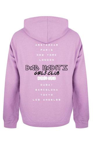 BAD HABITS GIRLS CLUB WORLD TOUR HOODIE LILAC