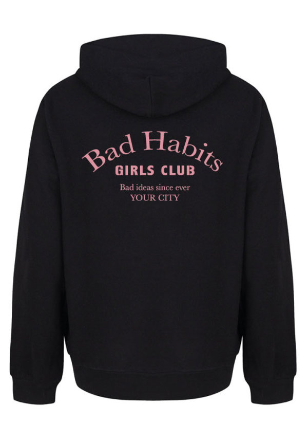 BAD HABITS GIRLS CLUB COUTURE HOODIE SOFT PINK PRINT (CUSTOM)