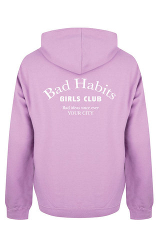BAD HABITS GIRLS CLUB COUTURE HOODIE LILAC (CUSTOM)