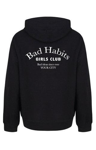 BAD HABITS GIRLS CLUB COUTURE HOODIE BLACK (CUSTOM)