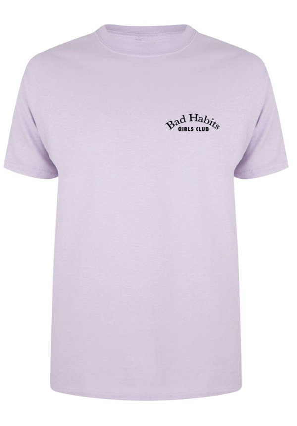 BAD HABITS GIRLS CLUB COUTURE TEE SOFT LILAC (CUSTOM)