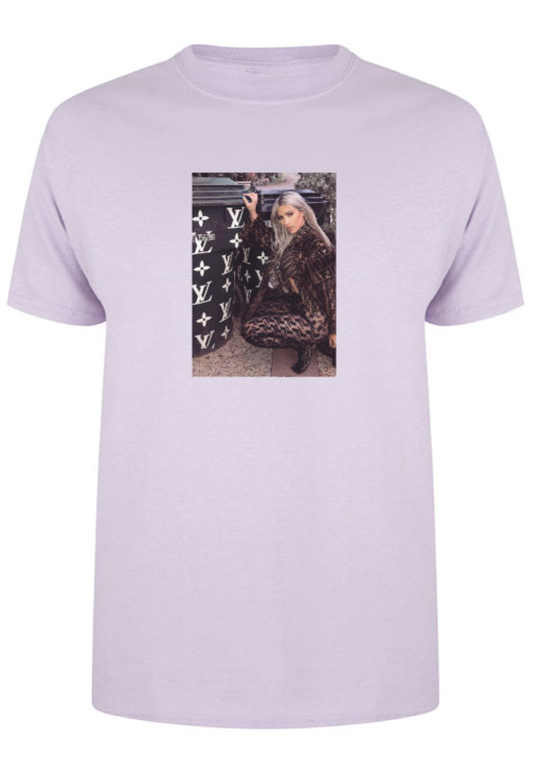 DESIGNER GIRL PHOTO TEE PASTEL