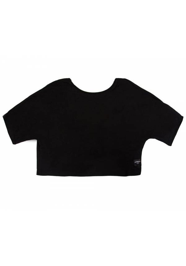 TWISTED CROP TOP BLACK
