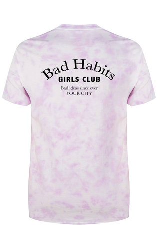 BAD HABITS GIRLS CLUB COUTURE TIE DYE TEE (CUSTOM)