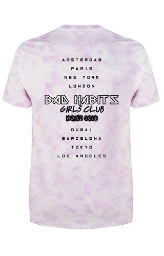 BAD HABITS GIRLS CLUB WORLD TOUR TIE DYE TEE