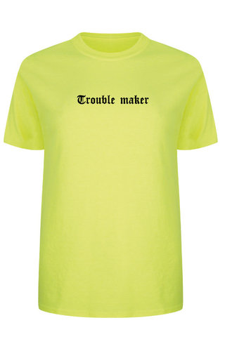 TROUBLE MAKER LA TEE NEON YELLOW
