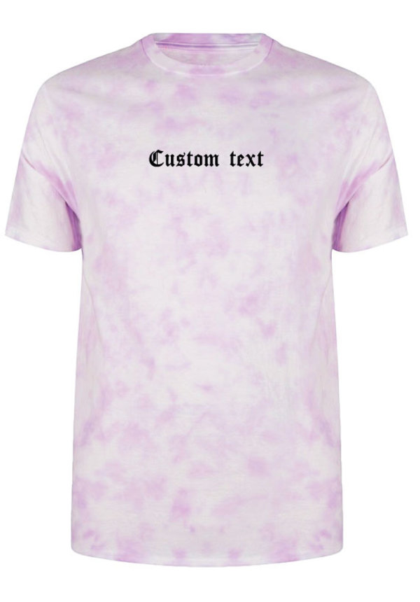 CUSTOM TEXT LA TIE DYE TEE
