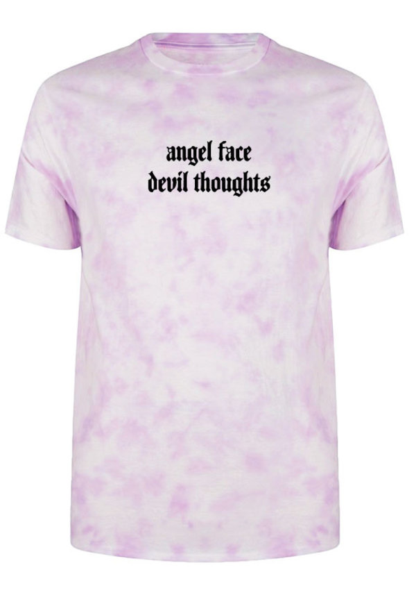 ANGEL FACE TIE DYE TEE