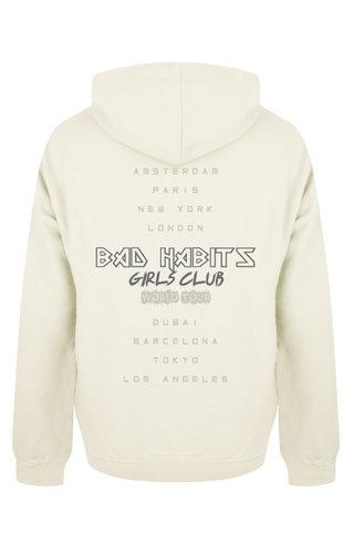 BAD HABITS GIRLS CLUB WORLD TOUR HOODIE CREAM