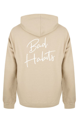 BAD HABITS SIGNATURE HOODIE BEIGE/WHITE