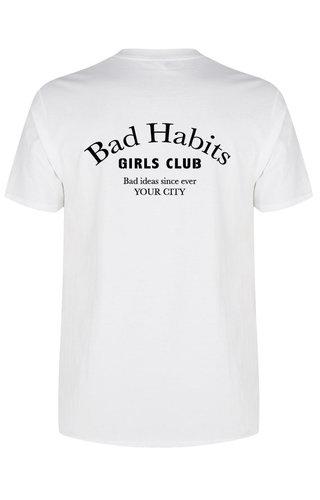 BAD HABITS GIRLS CLUB COUTURE TEE WHITE (CUSTOM)