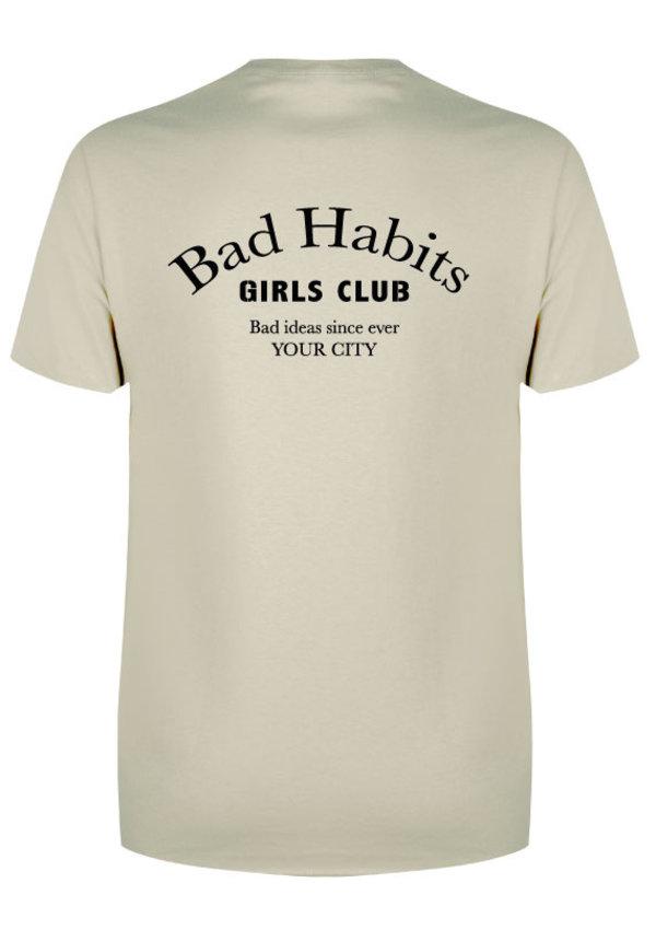 BAD HABITS GIRLS CLUB COUTURE TEE SAND (CUSTOM)