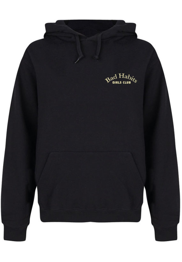 BAD HABITS GIRLS CLUB COUTURE HOODIE BEIGE PRINT (CUSTOM)