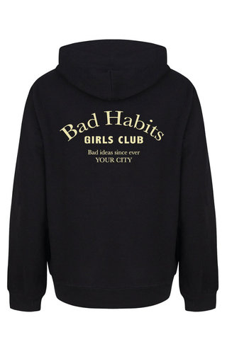 BAD HABITS GIRLS CLUB COUTURE HOODIE BEIGE PRINT (CUSTOM)