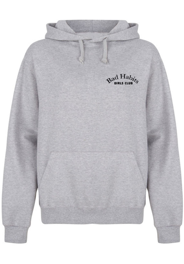 BAD HABITS GIRLS CLUB COUTURE HOODIE LIGHT GREY (CUSTOM)