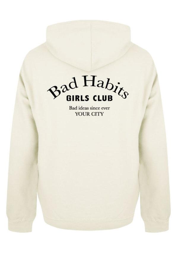 BAD HABITS GIRLS CLUB COUTURE HOODIE CREAM (CUSTOM)