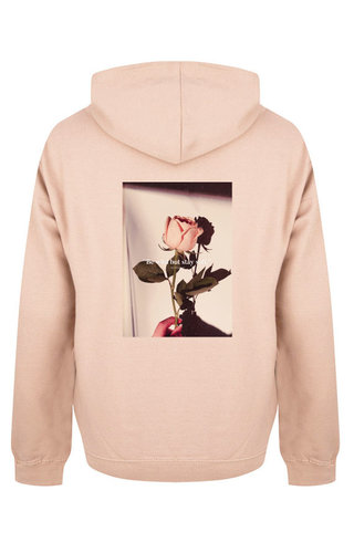 BE WILD STAY SOFT PHOTO HOODIE SOFT PEACH