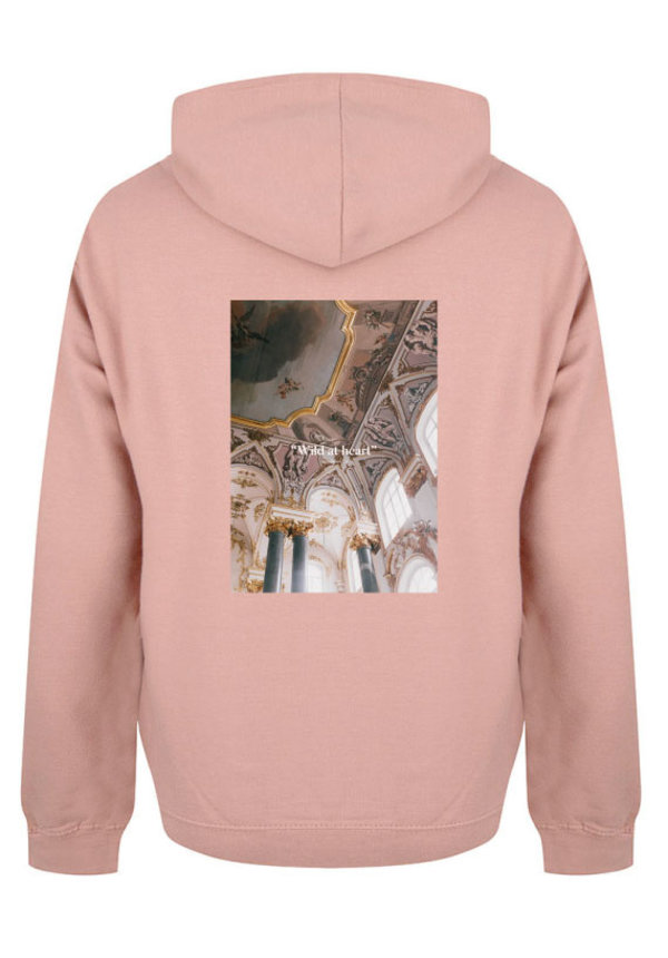 WILD AT HEART PHOTO HOODIE DUSTY ROSE