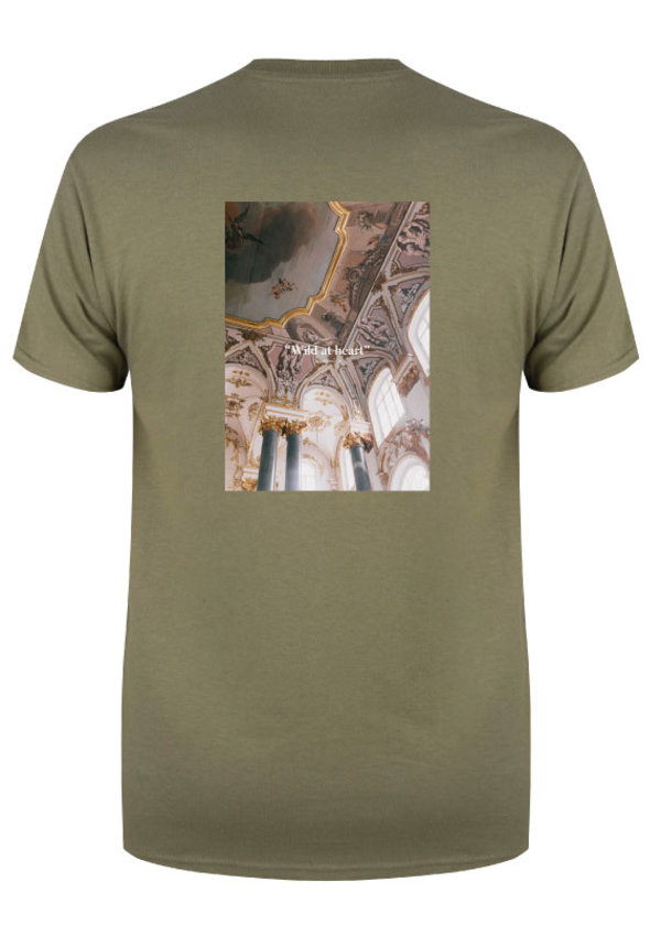 WILD AT HEART PHOTO TEE OLIVE