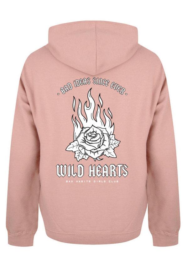 WILD HEARTS HOODIE DUSTY ROSE