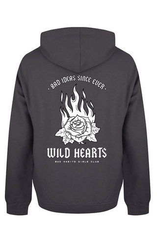 WILD HEARTS HOODIE DARK GREY