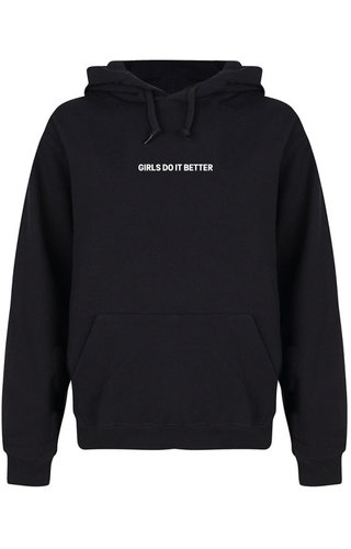 GIRLS DO IT BETTER HOODIE BLACK