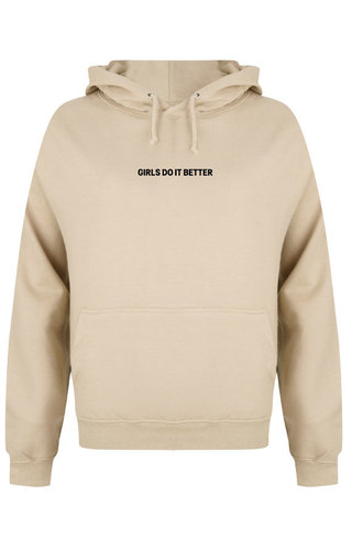 GIRLS DO IT BETTER HOODIE BEIGE