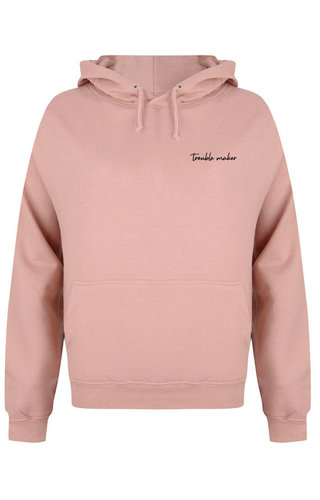 TROUBLE MAKER HOODIE DUSTY ROSE