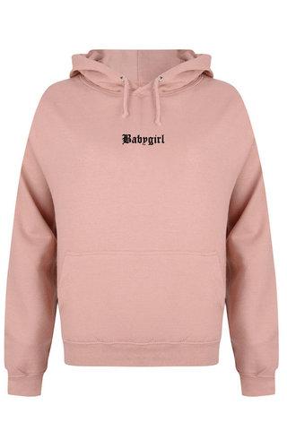 BABYGIRL LA HOODIE DUSTY ROSE